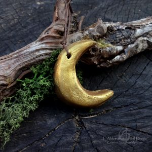 "Yule-Christmas Clay decoration ""Gold Moon"""