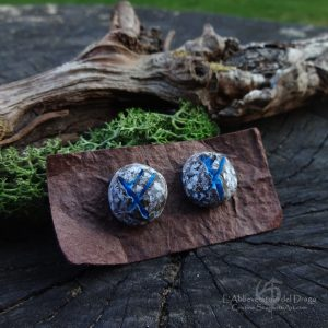 Bright Lobe Earrings-Gandalf Symbol